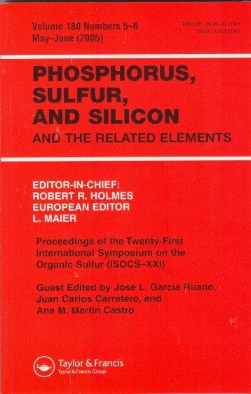 Mav-June (2005) SULFUR, AND SILICON