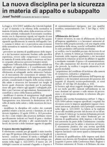 La nuova disciplina per la sicurezza in materia di ... - UIL Basilicata