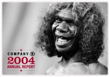 Company B Annual Report 2004 - Belvoir St Theatre
