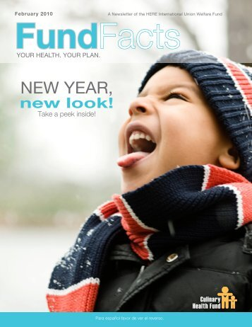 NEW YEAR, - the Culinary Health Fund