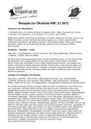 Rezepte KW 21 - Hof Engelhardt