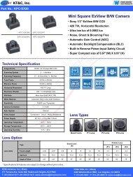 Mini Square ExView B/W Camera - Esentia Systems, Inc