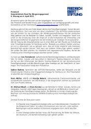 1 Protokoll Gesprächskreis Nord für Bürgerengagement 6. Sitzung am ...