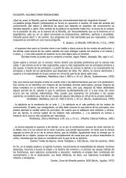 FILOSOFÍA: ALGUNAS CARACTERIZACIONES ... - Hecho Histórico