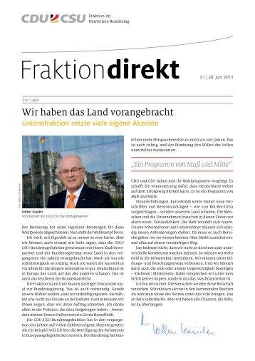 Wir haben das Land vorangebracht - CDU/CSU-Fraktion im ...