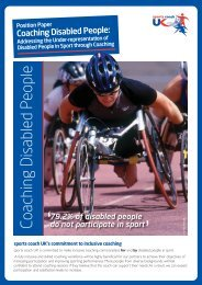 Coaching Disabled People A Position Statement ... - sports coach UK