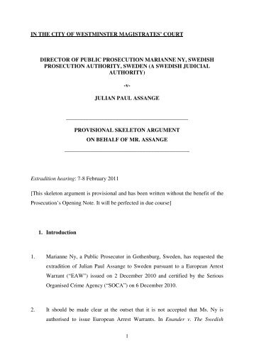 Skeleton argument on behalf of the joint liquidators provisionally provisional skeleton argument on behalf of julian assange altavistaventures Images