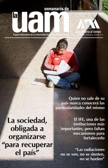 """La sociedad, obligada a organizarse """"para recuperar el país"""" - UAM ..."""