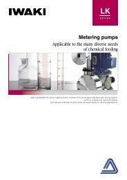 IWAKI Metering pumps LK series - Kartezyen Makine