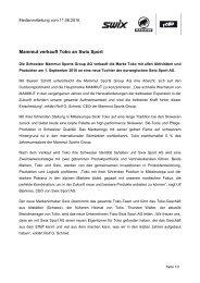 Mammut verkauft Toko an Swix Sport