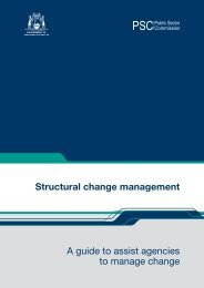 Structural change management A guide to assist agencies to ...