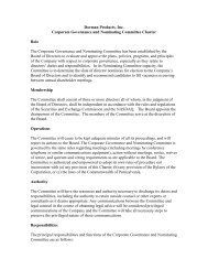 compensation and nominating committee charter - Dorman Products