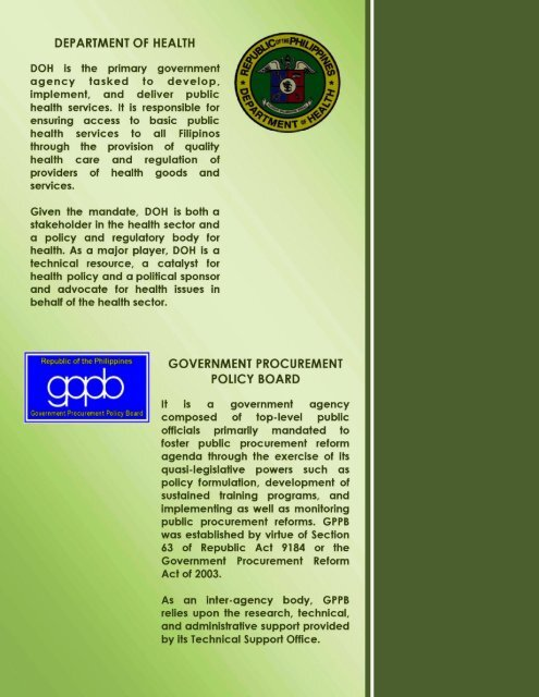 Procedure For The Procurement Of Consulting Service Doh