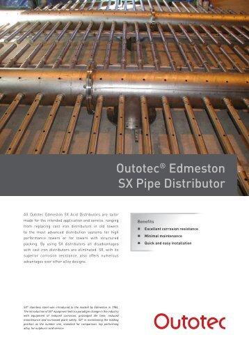 Outotec® Edmeston SX Pipe Distributor