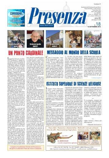Presenza n. 18 del 16/9/2012 - Arcidiocesi di Ancona-Osimo