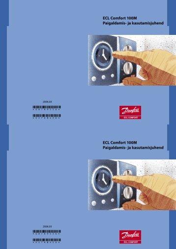 ECL Comfort 100M Paigaldamis- ja kasutamisjuhend ECL ... - Danfoss