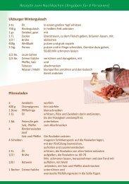 Rindfleischrezepte - Hofladen Ulzburg GbR