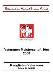 EASV Veteranenmeisterschaft Kat. Veteranen - ZKAV