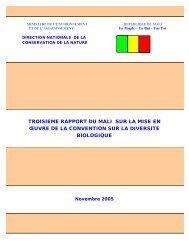 CBD Third National Report - Mali (French version)