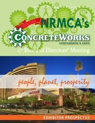 Exhibitor Prospectus - National Ready Mixed Concrete Association