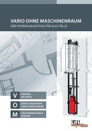 VArio oHne mAscHinenrAum - Tepper Aufzüge GmbH