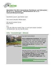 Newsletter Feb 2012: Gemeinderat (Parkhäuser ... - Grüne Winterthur