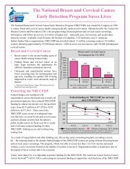 The National Breast and Cervical Cancer Early Detection Program ...