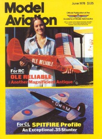 June 1978 $1.25 - Model Aviation