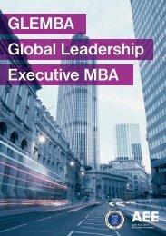 GLEMBA Global Leadership Executive MBA - SBM ITB