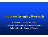 Frontiers in Aging Research - National Institute of Nursing Research