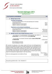 Sociale bijdragen 2013 - FOD Sociale Zekerheid