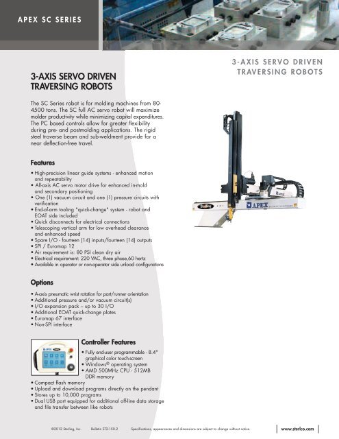 APEX SC Series Literature - Automation - Sterling