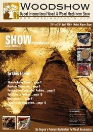 Newsletter - Dubai Woodshow