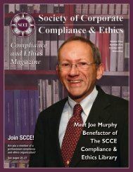 Designing a compliance program for the small - Society of Corporate ...