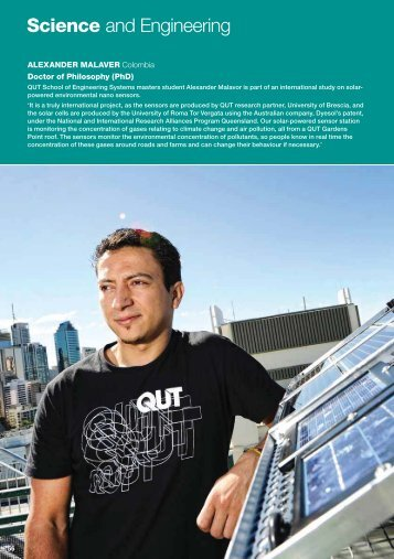 International postgraduate Science and Engineering courses - QUT