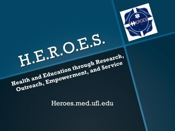 How You Can Help - UF HEROES