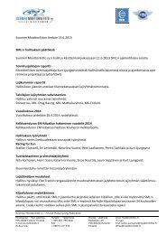 Hallituksen päätöksiä 19.6.2013 - Suomen Moottoriliitto SML ry.