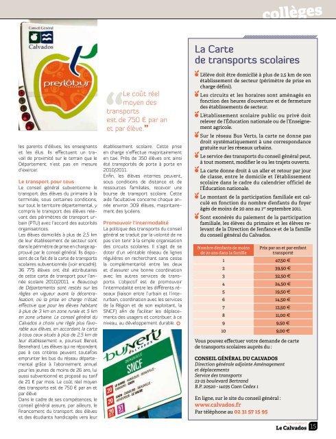 Le Calvados n°105 - Septembre 2011 - Conseil général du Calvados