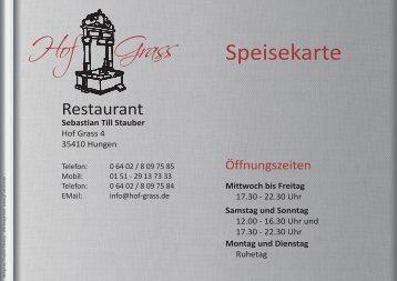 Unsere Speisekarte (PDF) - Restaurant im Hof Grass