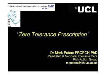 A discussion of whether zero tolerance is realistic