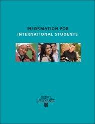 INFORMATION FOR INTeRNATIONAl STudeNTS - DePaul University