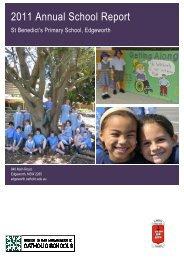 2011 Annual School Report - Catholic Schools Office Maitland ...
