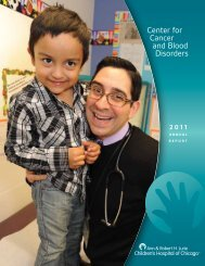 Center for Cancer and Blood Disorders 2011 Annual Report