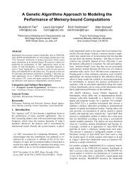 A Genetic Algorithms Approach to Modeling the Performance ... - SC07
