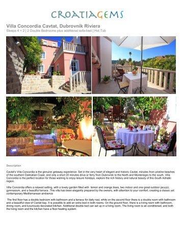 Villa Concordia Cavtat, Dubrovnik Riviera - Croatia Gems