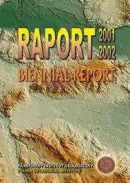 Raport 2001 - 2002 - Państwowy Instytut Geologiczny