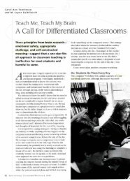 A Call for Differentiated Classrooms - Bellarmine University