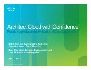 Architect Cloud with Confidence - Cisco Knowledge Network