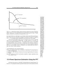 13.4 Power Spectrum Estimation Using the FFT - AIP