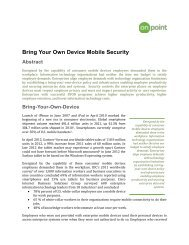 Bring Your Own Device Mobile Security Abstract - OnPoint Consulting